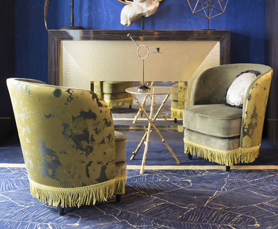 Hotel furniture for Maison Nabis is Paris