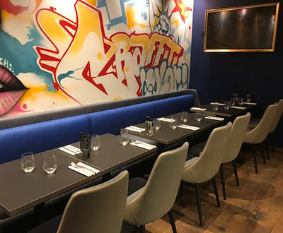Restaurant Furniture for Arty restaurant in Paris