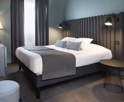 Made-to-measure headboards for the Diana Dauphine hotel