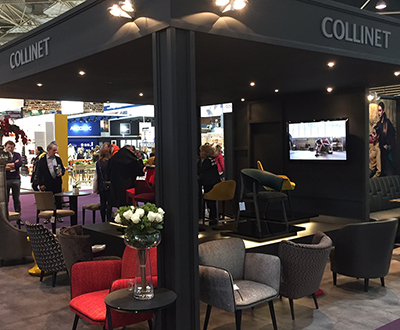 Collinet stand at the 2017 Sirha exhibition