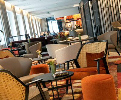 Collinet's furnitures at the Renaissance Brussels Hotel