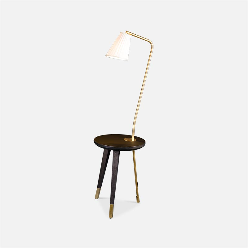 Milano Bedside Table Built In Lamp