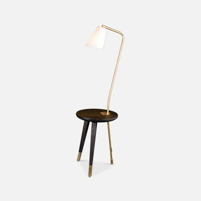 Milano Bedside table with integrated lamp