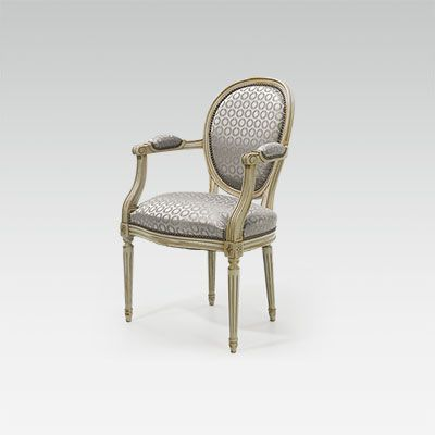Louis XVI Medallion Armchair