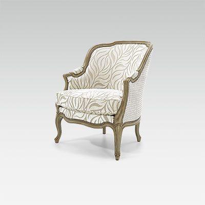 Attractive Louis XV Corbeille Bergere Chair
