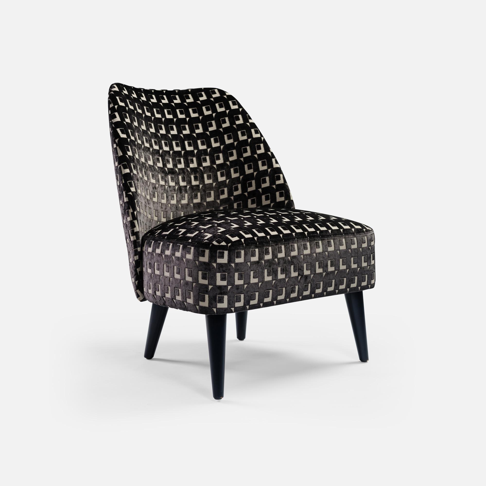 Slipper Chair for Hotel restaurant bar Opéra