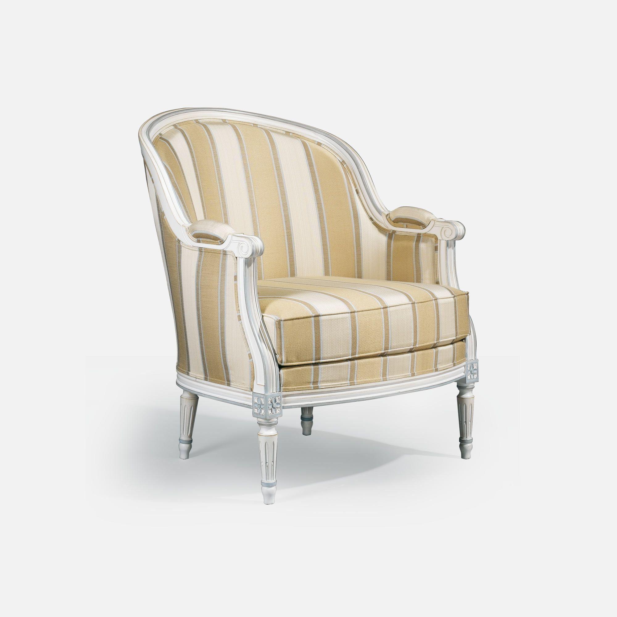 Bergere chair for Hotel restaurant bar Louis XVI Gondole
