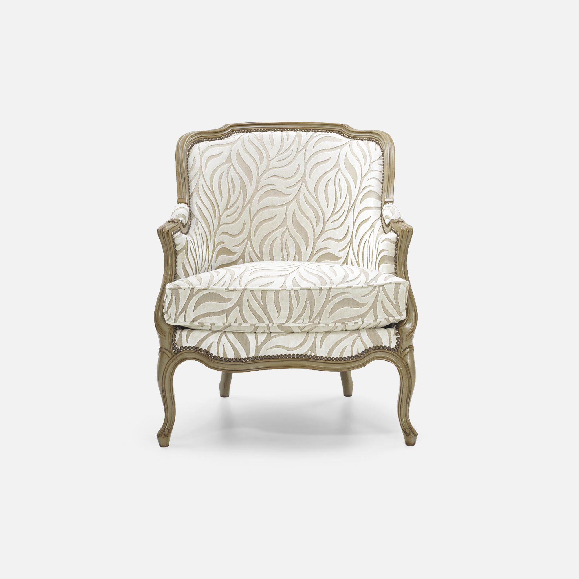 Bergere chair for Hotel restaurant bar Louis XV Corbeille