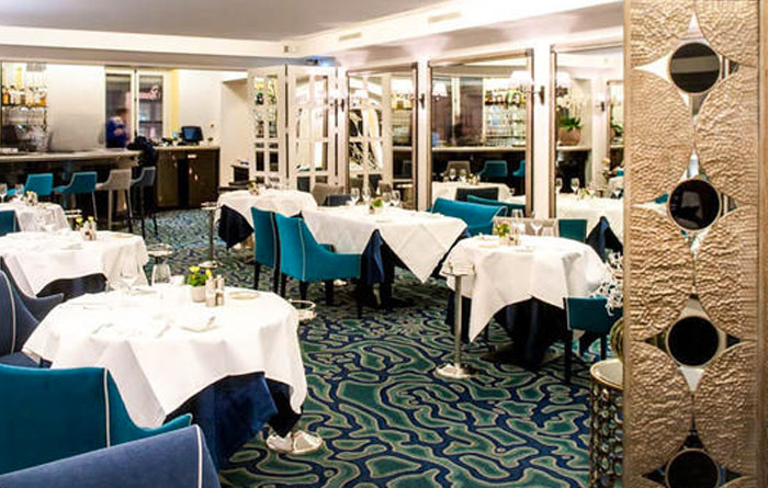 Restaurant furniture for Petrossian in Paris