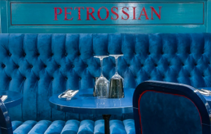 Restaurant furniture for Petrossian in Paris 2