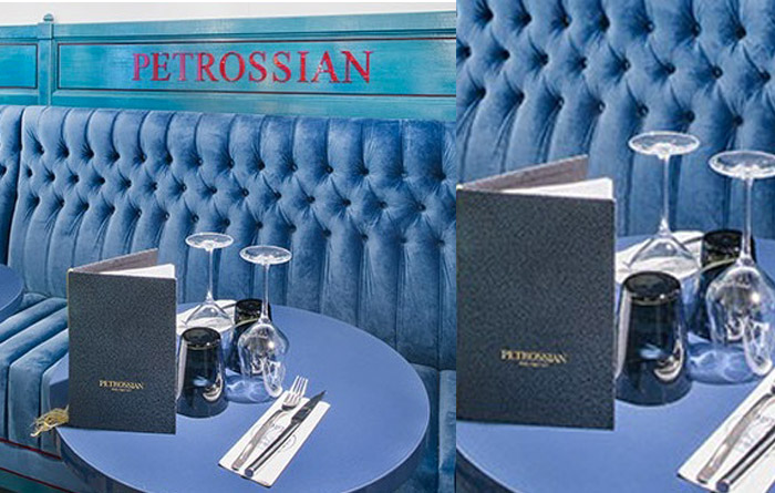 Restaurant furniture for Petrossian in Paris 3