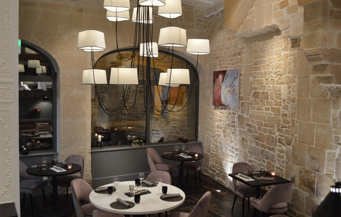 Restaurant furniture for A Contre Sens in Caen