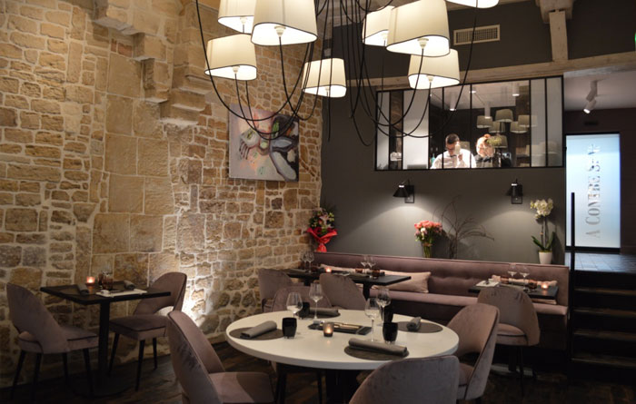 Restaurant furniture for A Contre Sens in Caen 2