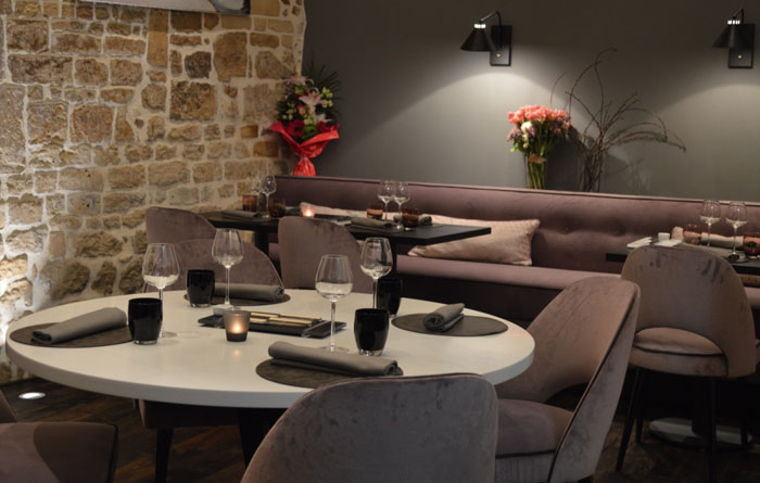 Restaurant furniture for A Contre Sens in Caen 3