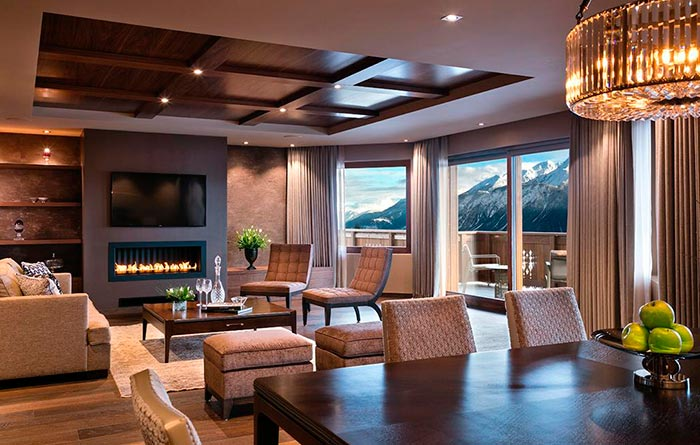 Furniture from the Guarda Golf Hotel in Crans Montana